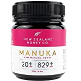 New Zealand Honey Co. Miel de Manuka MGO 829+ / UMF 20+ | Nueva Zelanda Miel 100% Pura y Saludable | 250g
